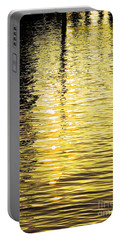 Portable Battery Charger featuring the photograph Citrine Ripples by Chris Anderson