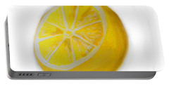 Portable Battery Charger featuring the painting Citrus by Marisela Mungia