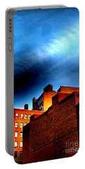 Old Buildings Of New York City With Ghost Ad - City Blocks - Building Blocks Series - Vertical Portable Battery Charger