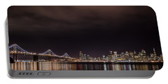 City By The Bay Portable Battery Charger by Linda Villers