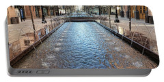 Portable Battery Charger featuring the photograph City Creek Fountain - 1 by Ely Arsha