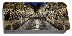 Portable Battery Charger featuring the photograph City Creek Fountain - 2 by Ely Arsha