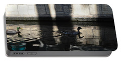 Portable Battery Charger featuring the photograph City Ducks by Shawn Marlow