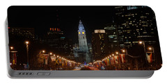 City Hall At Night Portable Battery Charger