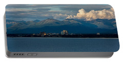 City Of Anchorage  Portable Battery Charger by Andrew Matwijec