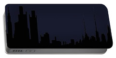 Portable Battery Charger featuring the digital art City Skyline... by Tim Fillingim