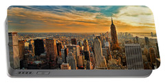 City Sunset New York City Usa Portable Battery Charger