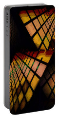 City View Abstract Portable Battery Charger