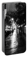 Portable Battery Charger featuring the photograph City Walk In The Rain by Mike Ste Marie
