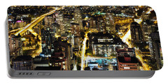 Portable Battery Charger featuring the photograph Cityscape Golden Burrard Bridge Mdlxiv by Amyn Nasser