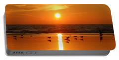 Clam Digging At Sunset - 2 Portable Battery Charger