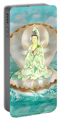 Clam-sitting Kuan Yin Portable Battery Charger by Lanjee Chee