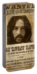 Clapton Wanted Poster Portable Battery Charger