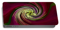 Portable Battery Charger featuring the photograph Claret Red Swirl Clematis by Debbie Oppermann