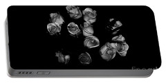 Classic Black Roses Portable Battery Charger