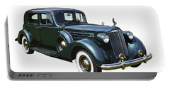 Classic Green Packard Luxury Automobile Portable Battery Charger by Keith Webber Jr