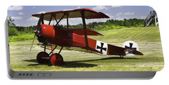 Classic Red Barron Fokker Dr.1 Triplane Photo Portable Battery Charger by Keith Webber Jr