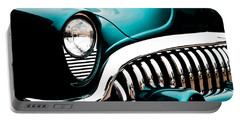 Portable Battery Charger featuring the photograph Classic Turquoise Buick by Joann Copeland-Paul