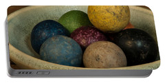 Clay Marbles In Bowl Portable Battery Charger