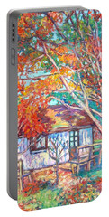 Claytor Lake Cabin In Fall Portable Battery Charger