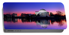 Clear Blue Morning At The Jefferson Memorial Portable Battery Charger