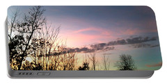 Clear Evening Sky Portable Battery Charger