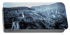 Clearcut Forest On The Oregon Coast Portable Battery Charger