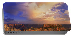 Clearing Storm Cape Royal North Rim Grand Canyon Np Arizona Portable Battery Charger