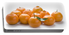 Portable Battery Charger featuring the photograph Clementine Oranges On White by Lee Avison