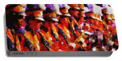 Clemson Tiger Band - Afremov-style Portable Battery Charger