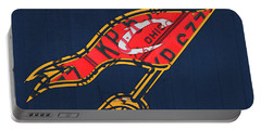 Cleveland Cavaliers Nba Team Retro Logo Vintage Recycled License Plate Art Portable Battery Charger