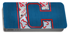 Cleveland Indians Baseball Team Vintage Logo Recycled Ohio License Plate Art Portable Battery Charger