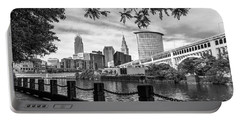 Cleveland River Cityscape Portable Battery Charger