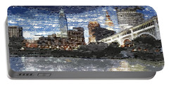 Cleveland Skyline - Typography Portable Battery Charger