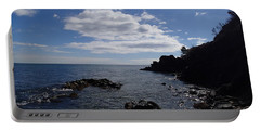 Portable Battery Charger featuring the photograph Cliff Bottom by Robert Nickologianis