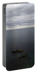 Portable Battery Charger featuring the photograph Cliff View by Robert Nickologianis