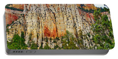 Cliffs Near Checkerboard Mesa Along Zion-mount Carmel Highway In Zion National Park-utah Portable Battery Charger