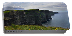 Cliffs Of Moher Looking South Portable Battery Charger by RicardMN Photography