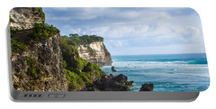 Cliffs On The Indonesian Coastline Portable Battery Charger