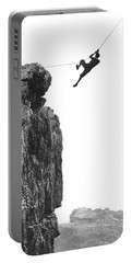 Climber Crossing On A Rope Portable Battery Charger