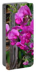 Climbing Sweet Peas Portable Battery Charger by Bruce Bley
