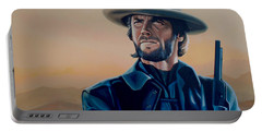 Clint Eastwood Painting Portable Battery Charger