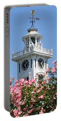 Clock Tower And Roses Portable Battery Charger