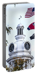 Clock Tower With Tennessee Mia Us Flag Art Portable Battery Charger