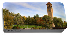 Clocktower And Autumn Colors Portable Battery Charger