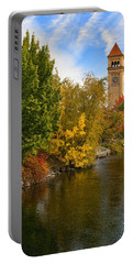 Clocktower In Fall Portable Battery Charger