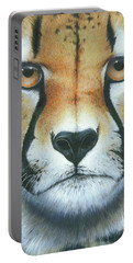 Portable Battery Charger featuring the painting Close To The Soul by Mike Brown