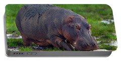 Close-up Of A Hippopotamus, Lake Portable Battery Charger by Panoramic Images