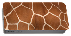 Close-up Of A Reticulated Giraffe Portable Battery Charger