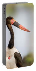 Close-up Of A Saddle Billed Stork Portable Battery Charger